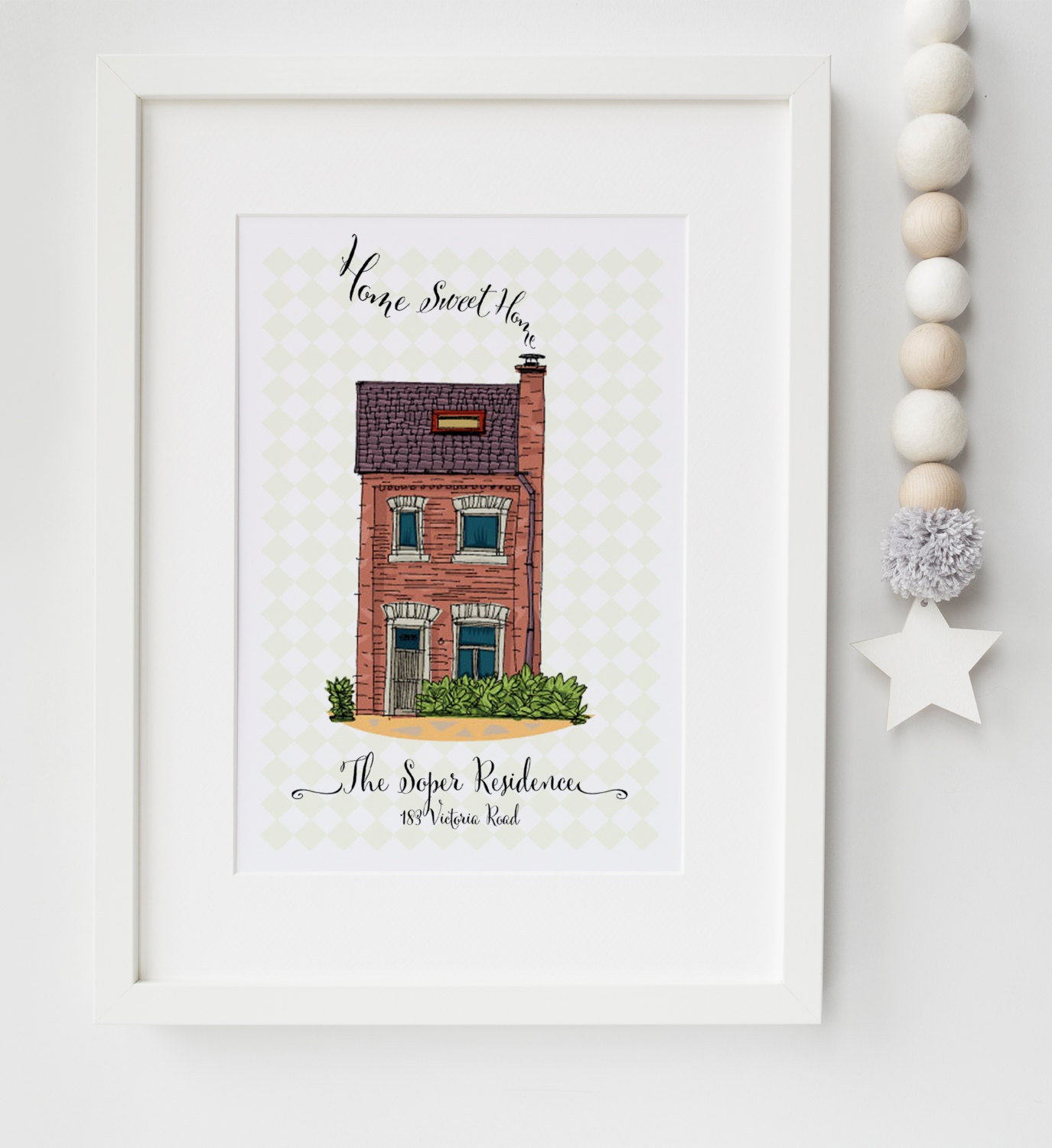 Personalised New Home House Warming Picture Print Moving