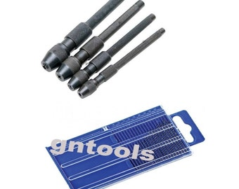 20Pc Drills And 4PC Hollow Ended Pin/Drill 0-4.8mm Vice For Mini Drills, Burrs, Taps & Pins Craft And Jewellery Makers