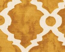 Tab Top Curtain Panels Madrid Goldenrod Spanish Tile
