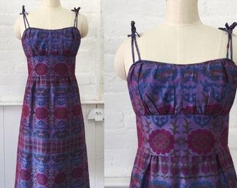 Vintage 70's paisley dress