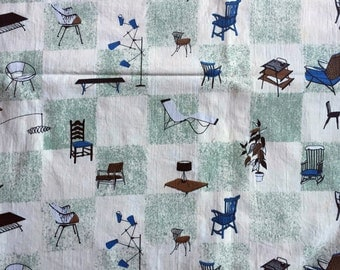 Vintage Retro Furniture design fabric