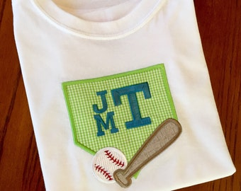 Personalized Appliqué Baseball T-Shirt