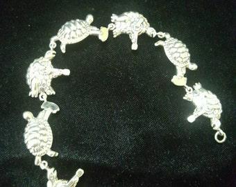 Sterling Silver Terrapin Turtle Bracelet