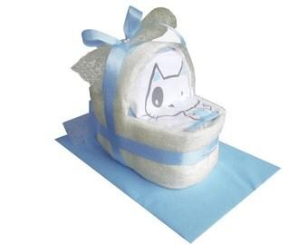 Diaper cake diaper cake diaper carriage diaper basket baptism birth