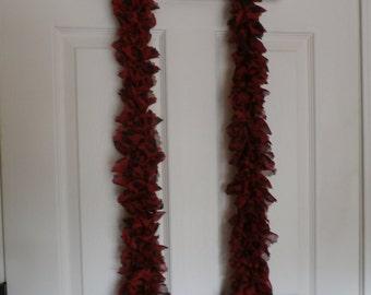 60 inch fabric ruffle scarf  # 36