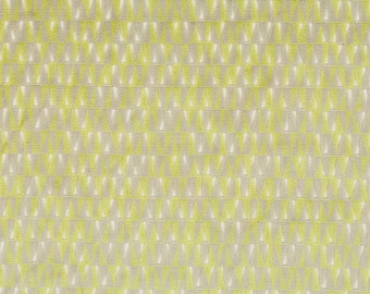 BEACON HILL MIRADOR Velvet Geometric Upholstery Fabric 5 Yards Chartreuse