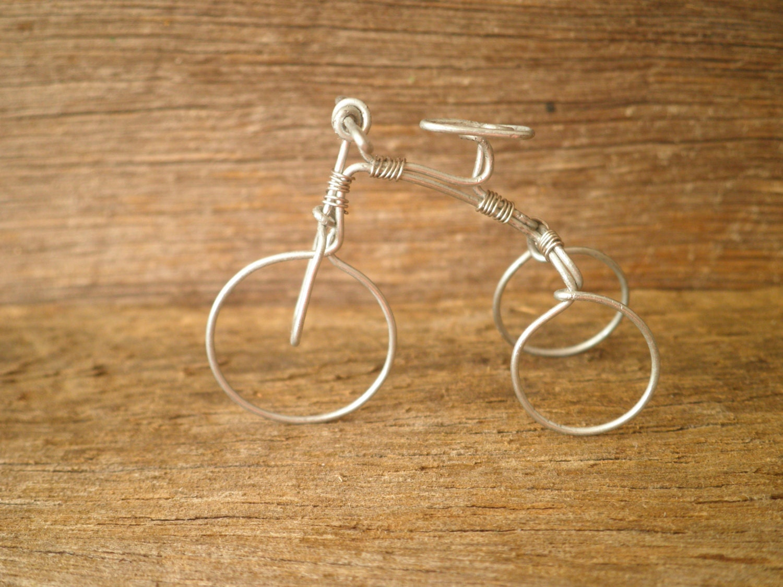 Env o gratis miniatura triciclo de alambre wonky triciclo - Alambre galvanizado manualidades ...