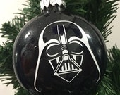 Items similar to Darth Vader Ornament, Star Wars Ornament, Star ...