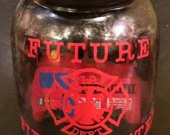 Future Firefighter LED night light. Fireman light. Firefighter night light. Future Fireman night light, Firetruck night light