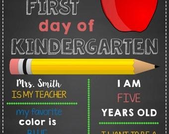 First Day Of School Chalkboard!
