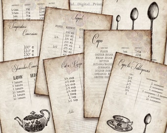 Kitchen Journaling Pages Printable Vintage