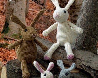 Amigurumi Rabbit Family Crochet Pattern