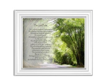 PSALM 23, The 23rd Psalm, Scripture Verse, Bible Verse, Pastor Gift Idea, Church Decor Wall Art, Posters, The Lord is my shepherd