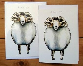 I love ewe greeting card
