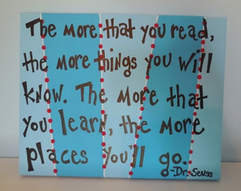 Dr. Seuss The More That You Read The More Things You Will Know Canvas Painting