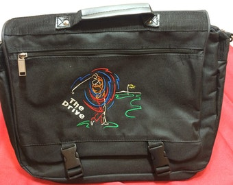 Expandable Messenger Bag Embroidered