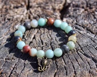 Amazonite Ganesh Bracelet