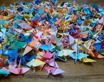 1,000 Origami Cranes- Rainbow Colors