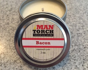 Bacon Candle // Soy Candle // 2oz Candle // Handcrafted // Wedding Favor Candles // Party Favor Candles // Stocking Stuffer