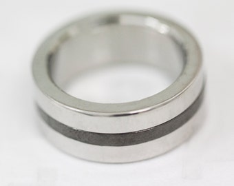 Size: Y (US size 12) Stainless Steel Band Ring, Men's Steel Band, Gent's Steel Band, Dress Ring
