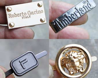 2PCS Metal Logo, Hardware Clasp For Shoes And Apparel, Hardware Pendant With High Quality For Wholesale,DIY