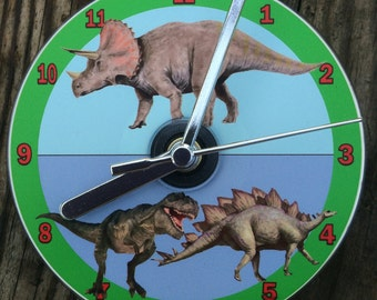 DINOSAURS CD CLOCK (Can be Personalised)