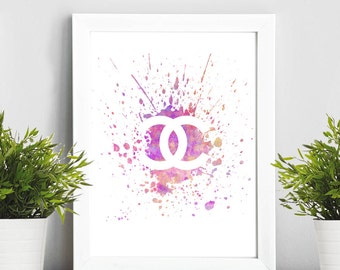 Chanel pink, Coco Chanel, Black Print  Print Children's Wall Art Home Decor Wall Hanging