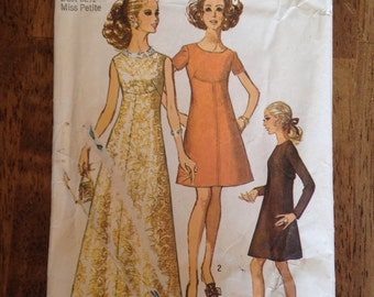 Vintage 60's 70's Simplicity, McCalls, and Butterick clothing patterns.
