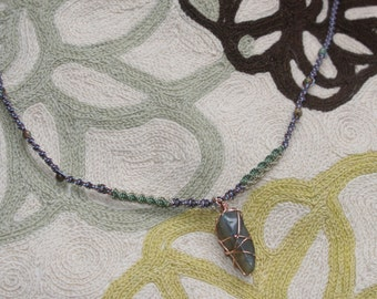 Labradorite Necklace with semi precious beads