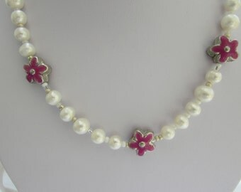 Freshwater Pearls and flowers