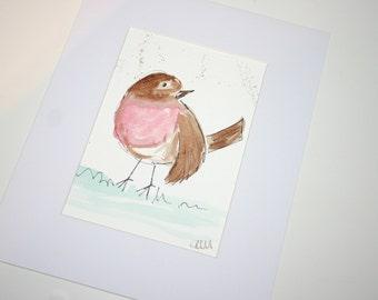 SALE robin watercolour, original watercolour, original painting, robin, robin painting