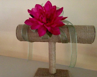 Dahlia Ribbon Wrist Corsage. Choose Your Colors.
