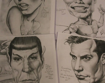 Star Trek art prints 4-pack