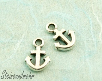 5pcs. anchor antique silver plated charm 12mm art.1590