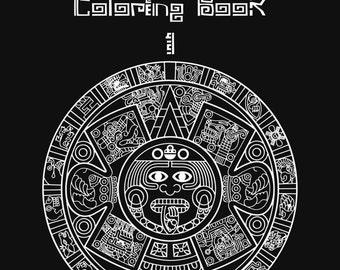 Aztec Coloring Book 1