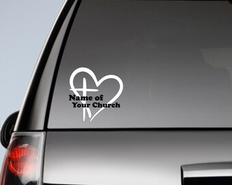 Church Car Decal,Your Church Name Car Decal,I Love My Church, You Choose the Color,Car Decal,Yeti Decal,Laptop Decal,Church Pride