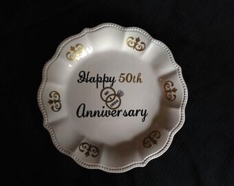 50th Anniversary Decorative Plate