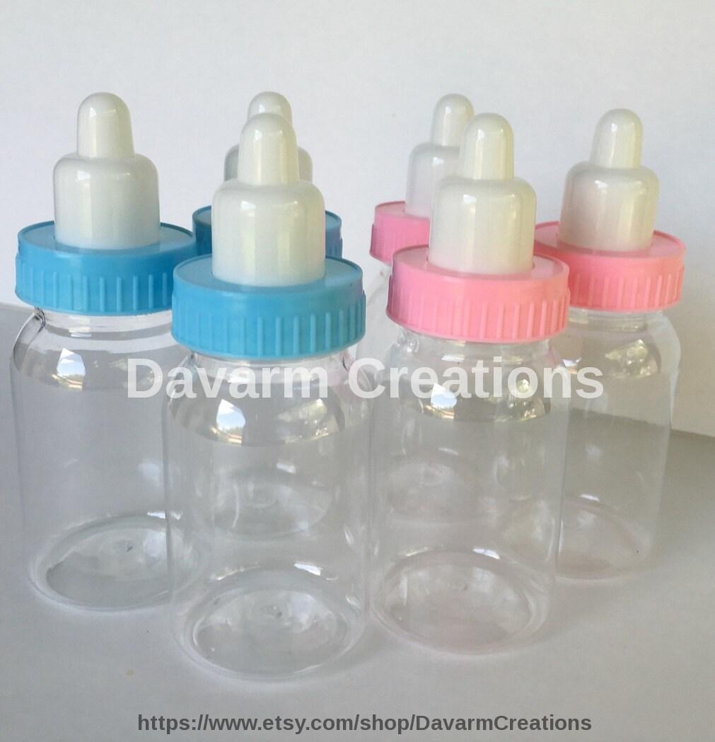 Dozen Baby Shower Bottle Favors/BLUE/ 3.5 Inches/Bottles