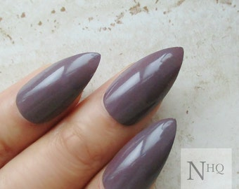 Stiletto Nails | Mocha Press On Nails | Fake Nails | Coffee Nails