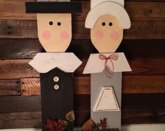 Reclaimed wood pilgrims set