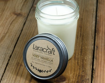 Very Vanilla Soy Candle 8oz.