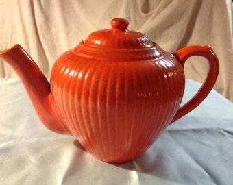 "Red Wing  ""Gypsy Trail Reed Pattern"" Tea Pot"