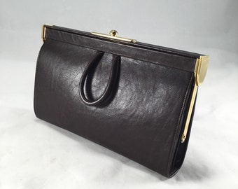 Vintage Balenciaga brown clutch