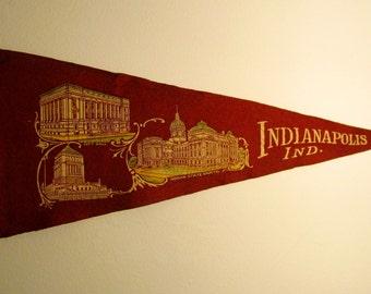 Indianapolis Indiana Pennant Flag