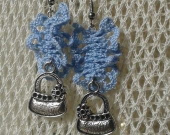 Lace earrings & charms