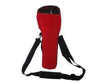 Red oxygen cylinder carrier bag
