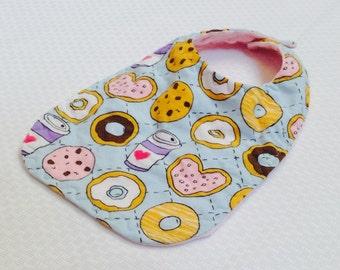 Donuts and Coffee Bib