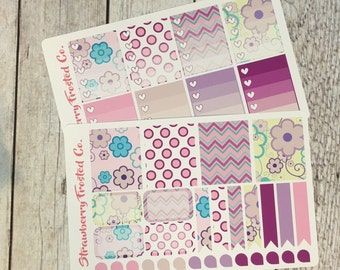 Purple Pleasures Themed Planner Stickers -- Made to fit Vertical Layout
