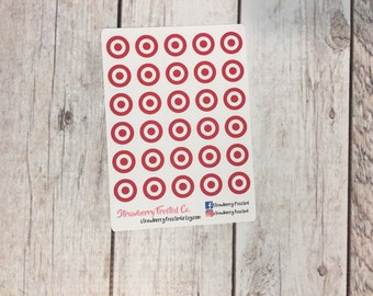 Target Planner Stickers - Made to fit Vertical or Horizontal Layout