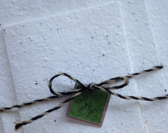 "Plantable Seed Paper Card Stock 5"" x 7"" 100 Pack Flower Seed & Silk Handmade"